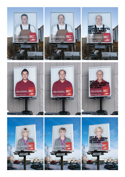 Get a career you'll never want to leave. SAIT Polytechnic Aging billboards