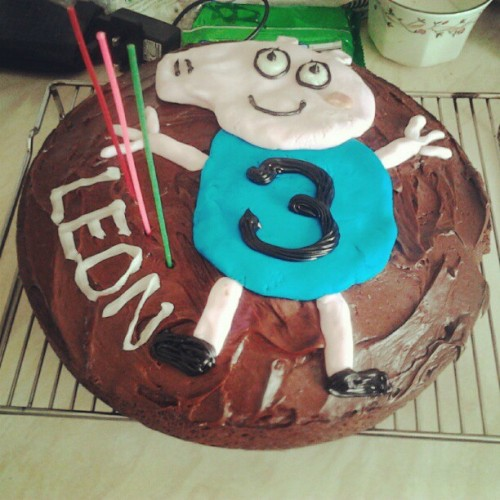 Scary cake for Leon. (Taken with Instagram)