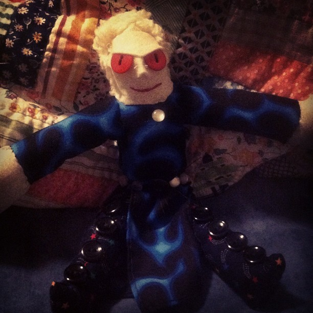 Dr. Mercury, In Rag Doll Form