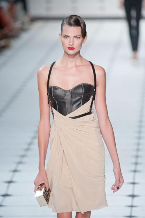 Leather and draping. Jason Wu get the combination right.