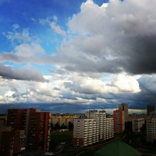 #sky #clouds #cloud #mywindow #landscapes  (Taken with Instagram)