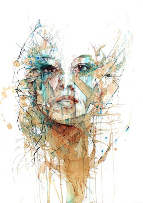 mydarkenedeyes:  New work from Carne Griffiths | On Tumblr.