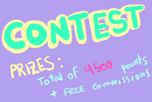 I'M HOLDING AN ART CONTEST AT MY DEVIANTART.  GO AND PARTICIPATE PLS.NICE PRIZES.YOU CAN WIN. INFO HERE http://mafer.deviantart.com/#/d50t1hq
