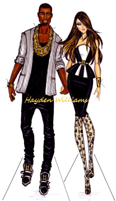 caligurls25:  Kimye by Hayden Williams