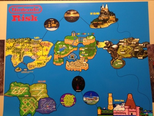 thisistheverge:  Nintendo fanatic mashes 'Mario' and 'Zelda' with 'Risk' in board game homage Hyrule declares war with dream land