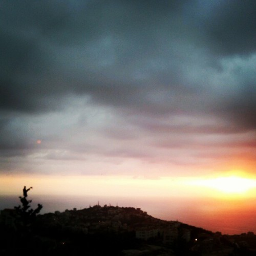 #sunset #silhouette #dark #evening #lebanon #doomsday #instamood #igerslebanon #photohunting #photooftheday (Taken with Instagram)