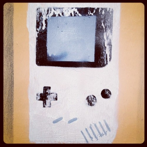 #gameboy #stancil (Scattata con Instagram)