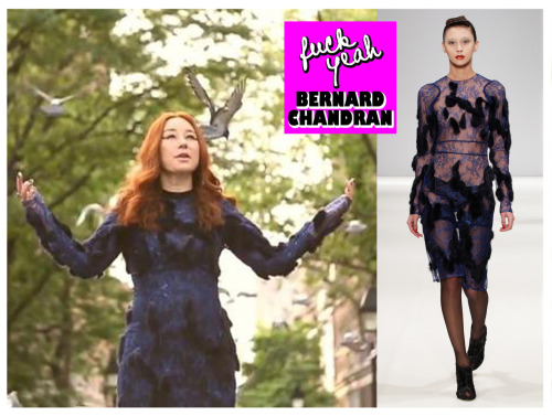 fuckyeahbernardchandran:  Tori Amos dressed in Bernard Chandran her Flavor (2012 Gold Dust Version) Music Video