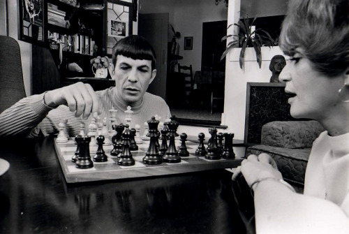 heyoscarwilde:  checkmate At home with Leonard Nimoy :: via wackystuff