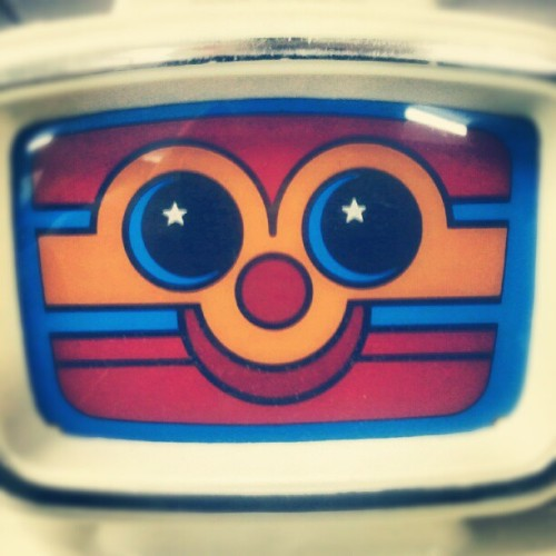 Toy robot face. #photography #photo #photooftheday #image #imagery #picture #pictureoftheday #simple #simplistic #minimal #minimalistic #instagram #instamood #instafamous #instaaddict #instahub #instagramhub #iphonesia #android #robot #toy #vintage #face #happy #scary (Taken with Instagram)