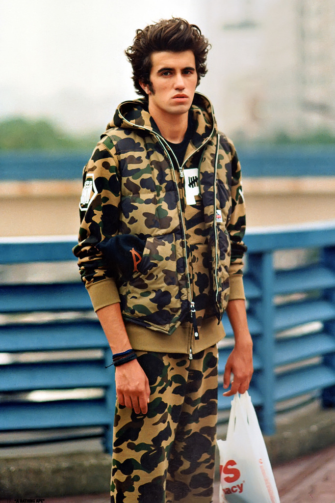 onlycoolstuff:  Undefeated x A Bathing Ape 2012 lookbook f/w