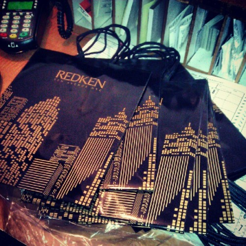 New #redken product bagggs! (:  #cosmo. #hair #redken #salon (Taken with Instagram)