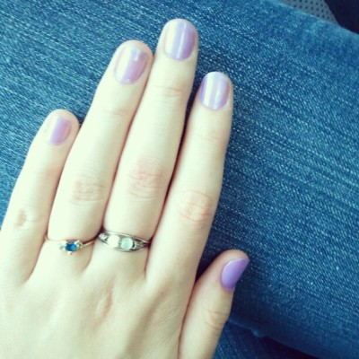 Did nt nails myself! Lavender = favorite color <3 (: (Taken with Instagram)