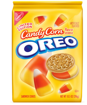 "mammalingo:  Candy Corn Oreos will be available for a limited time at Target starting on Monday. Here's how the orange and yellow cookie was described on Gizmodo: ""You've basically got the best thing to happen to milk combined with arguably one of the best aspects of Halloween."" This might be an unpopular opinion but ewwwwww. I hate Candy Corn. I prefer candy that doesn't taste like a box of pink and white striped birthday candles.  Trick or treat? Trick. Please prank me. Toilet paper my trees. Throw eggs at my door. Or give me a box of raisins. I'd prefer a freakin' box of raisins. Please leave all nasty comments below.   Yes…I will consume that!"