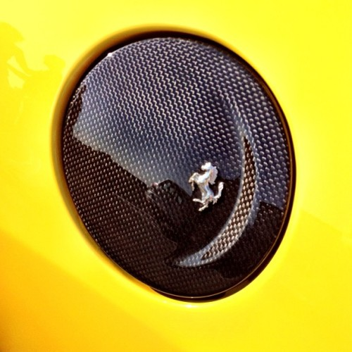 The #F430's gas door, cute. #ferrari #CarbonFiber (Taken with Instagram)