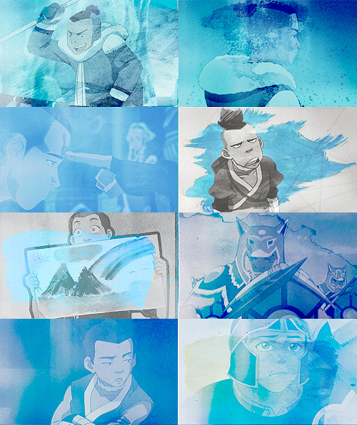 scarredprince:  color meme → Sokka + blue