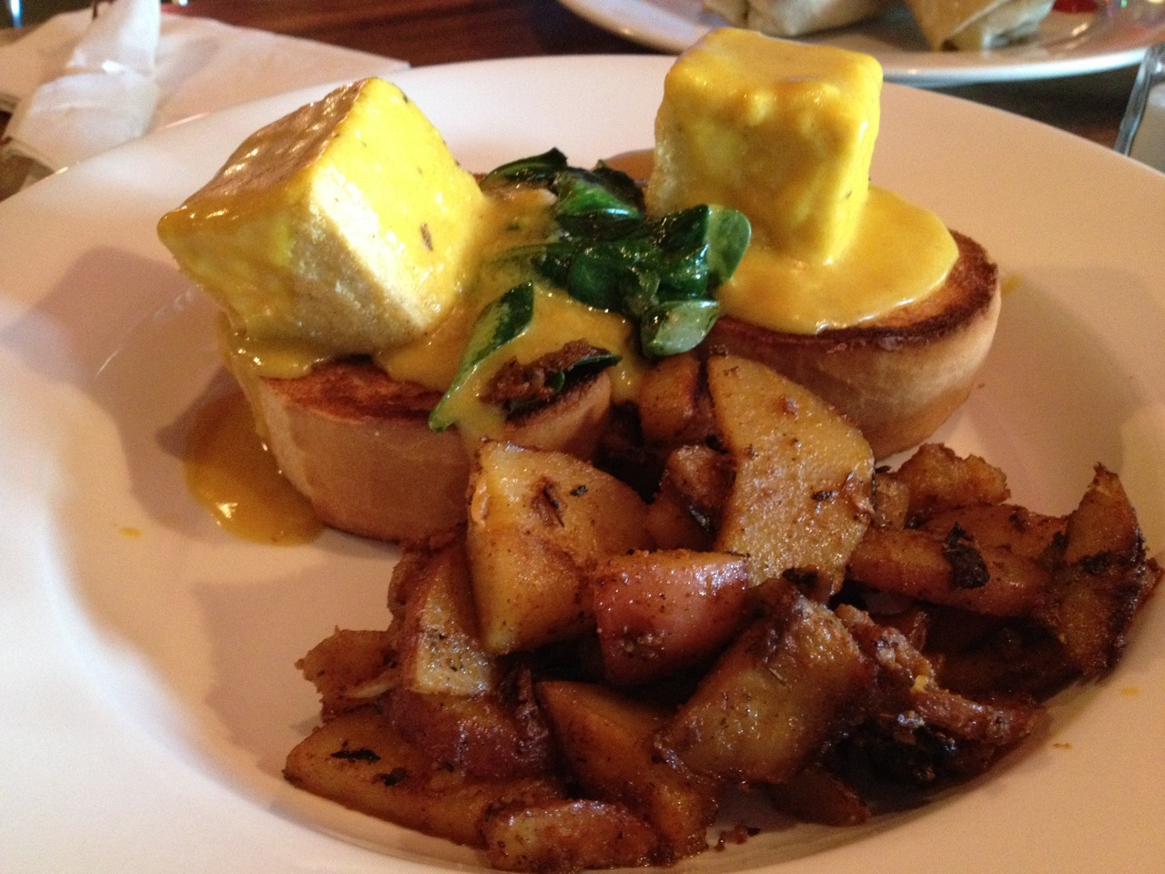 Tofu florentine benediction from Julian's in Providence, RI!