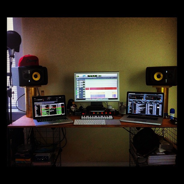 Doin it all… #producer #dj #traktor #serato #protools #studio #chicago (Taken with Instagram at Red Room Studio)