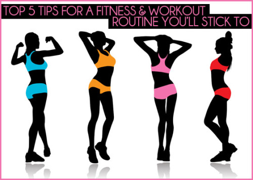 que-des-mots:  5 Tips for a Workout Routine You'll Love and Stick To: 1) Set realistic goals for your workout routine 2) Determine how much time you can commit to exercising 3) Evaluate your workout likes, dislikes, strengths, and weaknesses 4) Incorporate variety & balance in your workout schedule 5) Listen to your body when exercising