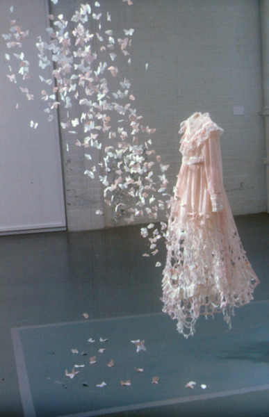 ugly-diamonds:   fallaciousfantasy:  aha-clever:  McQueen  Remember when I went to a museum and saw a McQueen couture dress and my eyes dampened with tears and I was like wow I am crying at a dress  this is wonderful