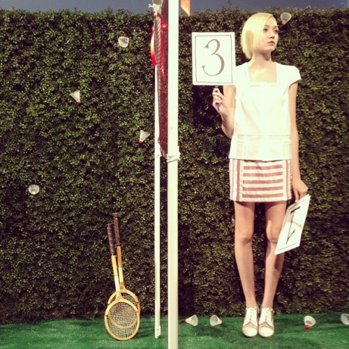 official scorekeeper @rachelantonoff (Taken with Instagram)
