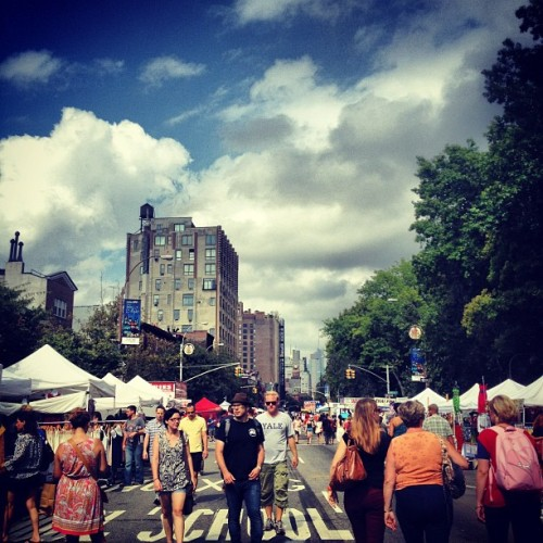 another day in #newyorkcity #nyc #clouds #sky #street #fair #westvillage  (Taken with Instagram at IFC Center)