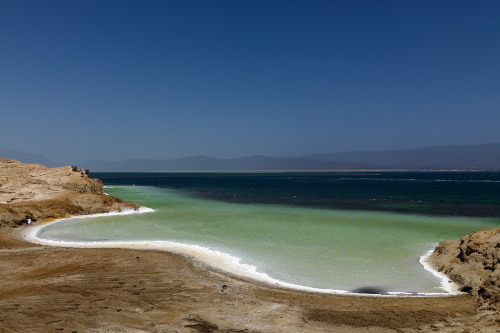 Lake Assal shore, Djibouti (by Eric Lafforgue)