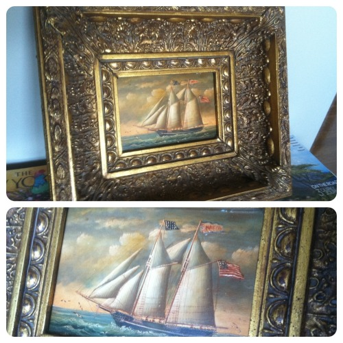My random antique oil paining purchase from New York. It is like nothing else I own but I love it.