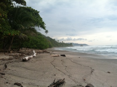 Playa Hermosa has this glow about it, this gray mist. Land so magical. XO, J