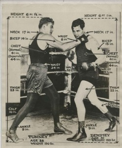 Tale of the Tape: Dempsey vs Tunney, 1st meeting