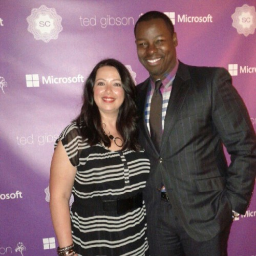 With the incomparable @tedgibson at the #scvip lounge. Yes, he juged my hair. #hairboyfriend (Taken with Instagram)