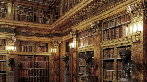 speciesbarocus:  Liechtenstein's Palace in Vienna. The library.