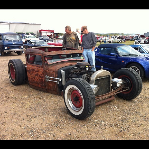 Saw this cool rat rod at a local car show today.  (Instagramで撮影)