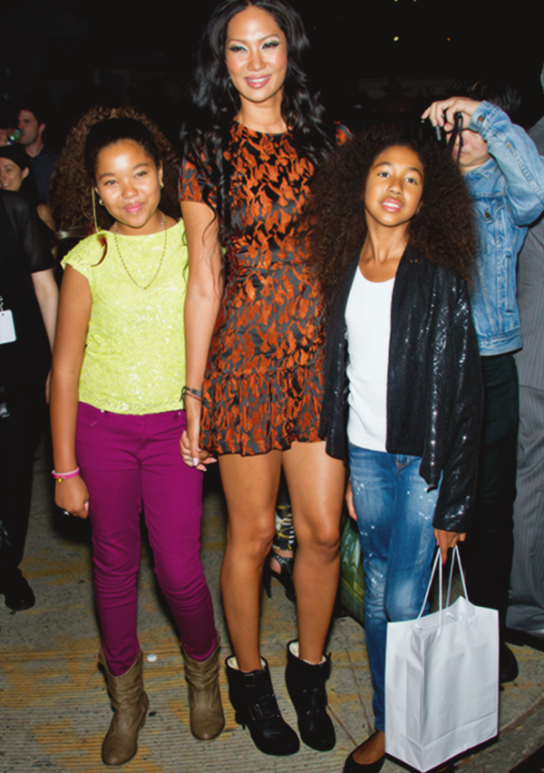 Kimora Lee Simmons with her two daughters Ming Lee Simmons & Aoki Lee Simmons at the Lincoln Center