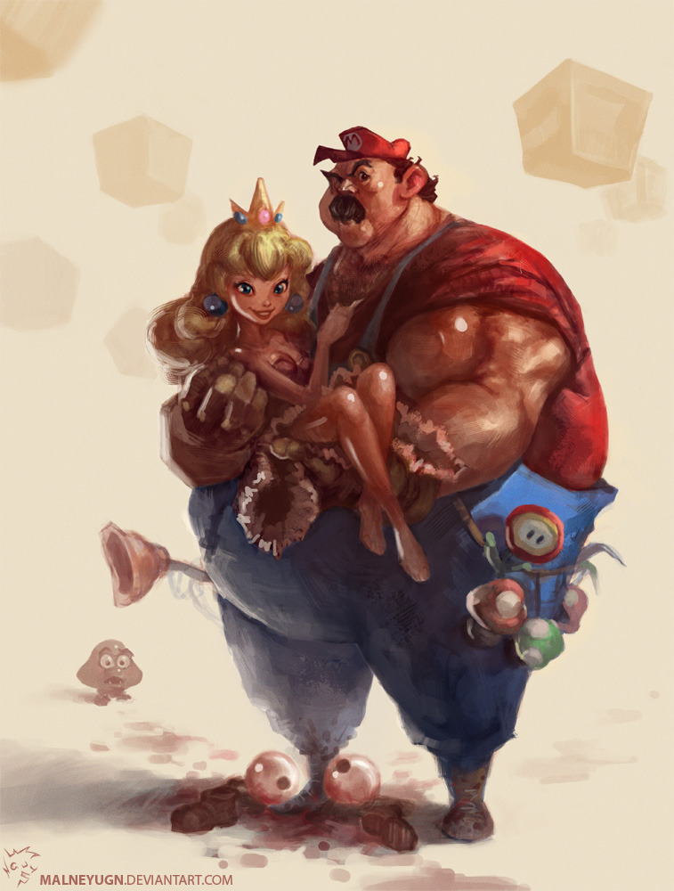 Mario painting by Lam Nguyen.