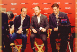 captainfillion:  Clark Gregg, Joss Whedon and Nathan Fillion of 'Much Ado About Nothing' at Variety Studio, TIFF 2012
