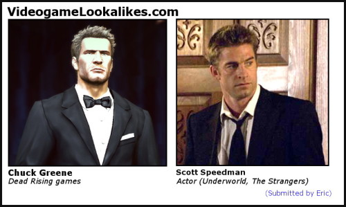 Chuck Greene (Dead Rising) looks like Scott Speedman (Underworld).