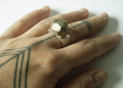 faceted rock ring by marmod8 on Etsy
