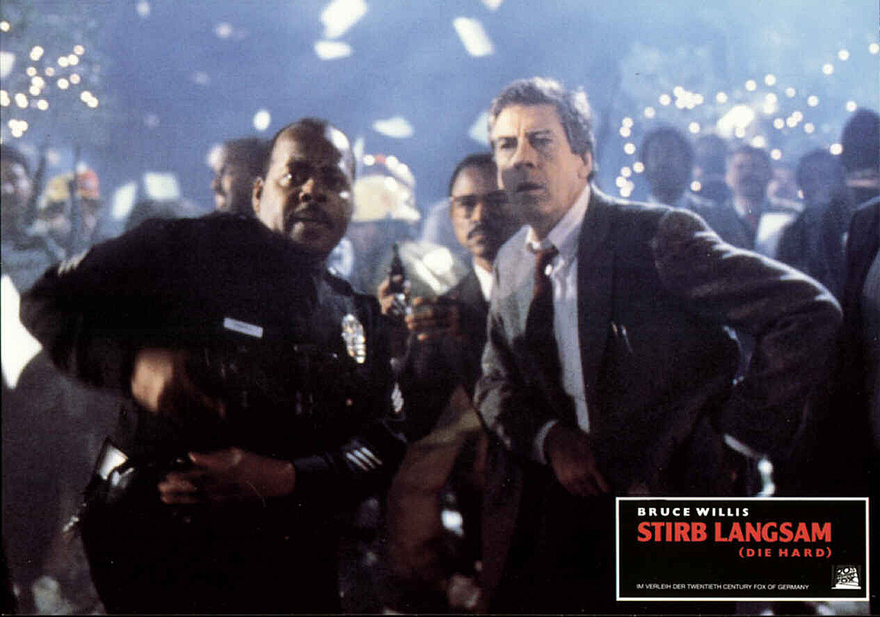 Die Hard, German lobby card. 1988