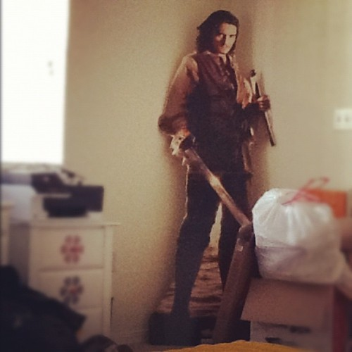 Orlando Bloom is protecting the apartment at all times………. (Taken with Instagram)