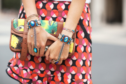NYFW street style: Colorful Proenza Schouler and Dannijo accessories on Leandra Medine