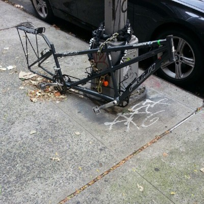 The saddest looking bike I've ever seen (Taken with Instagram at East Village)