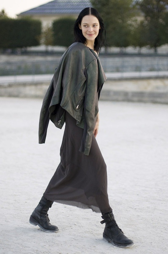 Kinga Rajzak in Rick Owens, Paris