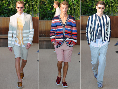 gqfashion:  NYFW: Tommy Hilfiger Spring 2013 Stripes on stripes on stripes.