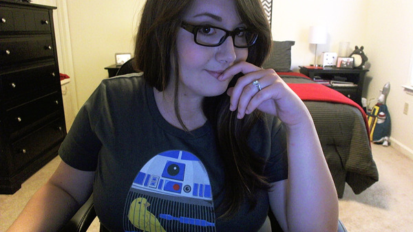 Wearing my R2 shirt from Celebration VI :)