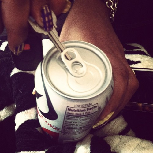 How bitches with NAILS open a Diet Coke.  (Taken with Instagram)