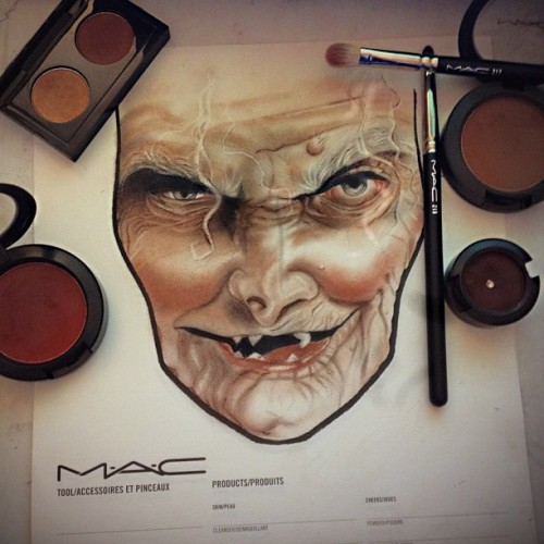 kilprity:  Here Lil Boy Want An Apple? #MacHalloweenEdition #FaceChart (Taken with Instagram)