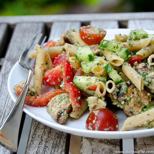 foodwhore:  chicken tikka pasta salad