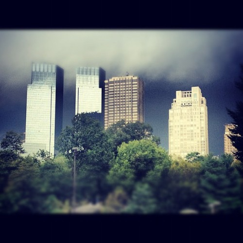 Watching the clouds take over: #foreshadowing #rainclouds  (Taken with Instagram)