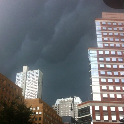 big storm rolling into Brooklyn (Taken with Instagram)